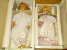 "A pair of FIBA Artist Dolls - 24"" AND 28"" as lotted - boxed"