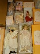A group of 6 PAULINE'S Artist Dolls as lotted - 4 x boxed / 2 x unboxed