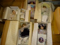 A group of six HAMILTON COLLECTION Artist Dolls to include: 'Shy Violet', 'Hope' and 'Jasmine' -