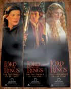 THE LORD OF THE RINGS: FELLOWSHIP OF THE RING (2001) - SET OF 6 DOOR PANELS - as lotted - Rolled -
