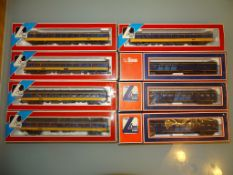 A group of HO scale Dutch Railways coaches as lotted - VG/E in F/G boxes (8)