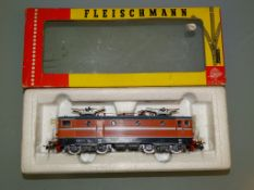 A FLEISCHMANN 4365 Swedish Rc2 class electric locomotive in SJ orange livery - VG in G box