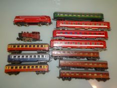 A group of coaches and locos by LIMA and JOEUF as lotted - G/VG, unboxed (12)