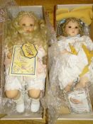 "A pair of TINKERBELL CREATIONS / JAYNE SEDDON Artist Dolls 'Baby Crystal' and 'Alexis' - 24"" as"