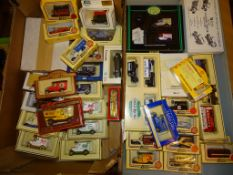 A large quantity of promotional cars, vans and buses by Lledo, Matchbox Models of Yesteryear and