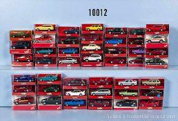 Konv. 45 Herpa H0 Modellfahrzeuge, Pkw und Cabriolets, überwiegend BMW, sehr guter bis neuwertiger