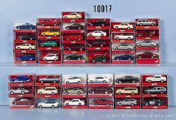 Konv. 43 Herpa H0 Modellfahrzeuge, Pkw, Limousinen und Sportwagen, sehr guter bis neuwertiger