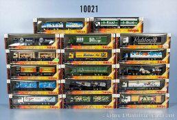 Konv. 17 Herpa H0 Modellfahrzeuge, Lkw Brauerei-Edition, sehr guter bis neuwertiger Zustand in