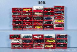 Konv. 40 Herpa H0 Modellfahrzeuge, dabei Pkw, Limousinen und Sportwagen, sehr guter bis