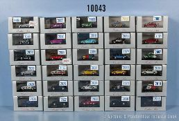 Konv. 30 Herpa H0 Exclusiv Serie Modellfahrzeuge, dabei Pkw, Sport- und Rallyewagen, neuwertiger