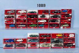 Konv. 40 Herpa H0 Modellfahrzeuge, Pkw und Sportwagen, sehr guter bis neuwertiger Zustand in OVP, *