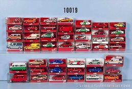 Konv. 45 Herpa H0 Modellfahrzeuge, Einsatzfahrzeuge, Feuerwehr, Polizei, Krankenwagen usw., sehr