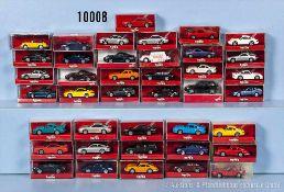 Konv. 40 Herpa H0 Modellfahrzeuge, Porsche Sportwagen, sehr guter bis neuwertiger Zustand in OVP, *