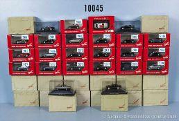 Konv. 36 Herpa H0 Modellfahrzeuge Pkw, u. a. Privat Collection, neuwertiger Zustand in OVP, *