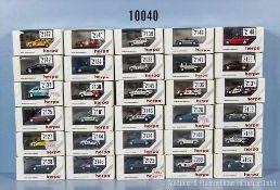 Konv. 30 Herpa H0 Privat Collection Modellfahrzeuge, dabei Pkw, Sport und Rallyewagen, neuwertiger