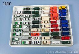 Konv. 59 H0 Modellfahrzeuge Einsatzfahrzeuge, Polizei, Notarzt, Feuerwehr usw., versch.