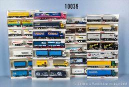 Konv. 27 Wiking H0 Modellfahrzeuge, dabei Lastzüge, Kipp-Lkw, Sattelzüge usw., teilweise versch.