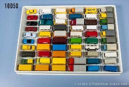Konv. 60 H0 Modellfahrzeuge, Pkw, Oldtimer und Transporter, versch. Hersteller, Roco, Imu, Wiking,