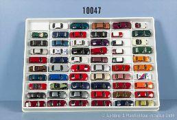 Konv. 59 H0 Modellfahrzeuge, Pkw, Sportwagen, Einsatzwagen und Rallyefahrzeuge, versch.