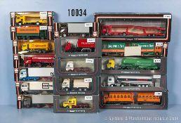 Konv. 17 Herpa H0 Modellfahrzeuge, Lkw-Sattelschlepper, Autotransporter, Zugmaschinen,