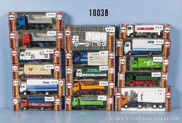 Konv. 16 Herpa H0 Modellfahrzeuge, Lkw, sehr guter bis neuwertiger Zustand in OVP, *