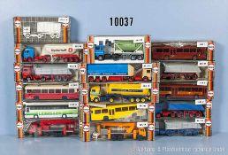 Konv. 16 Herpa H0 Modellfahrzeuge, Lkw, Omnibusse und Einsatzfahrzeuge, sehr guter bis neuwertiger