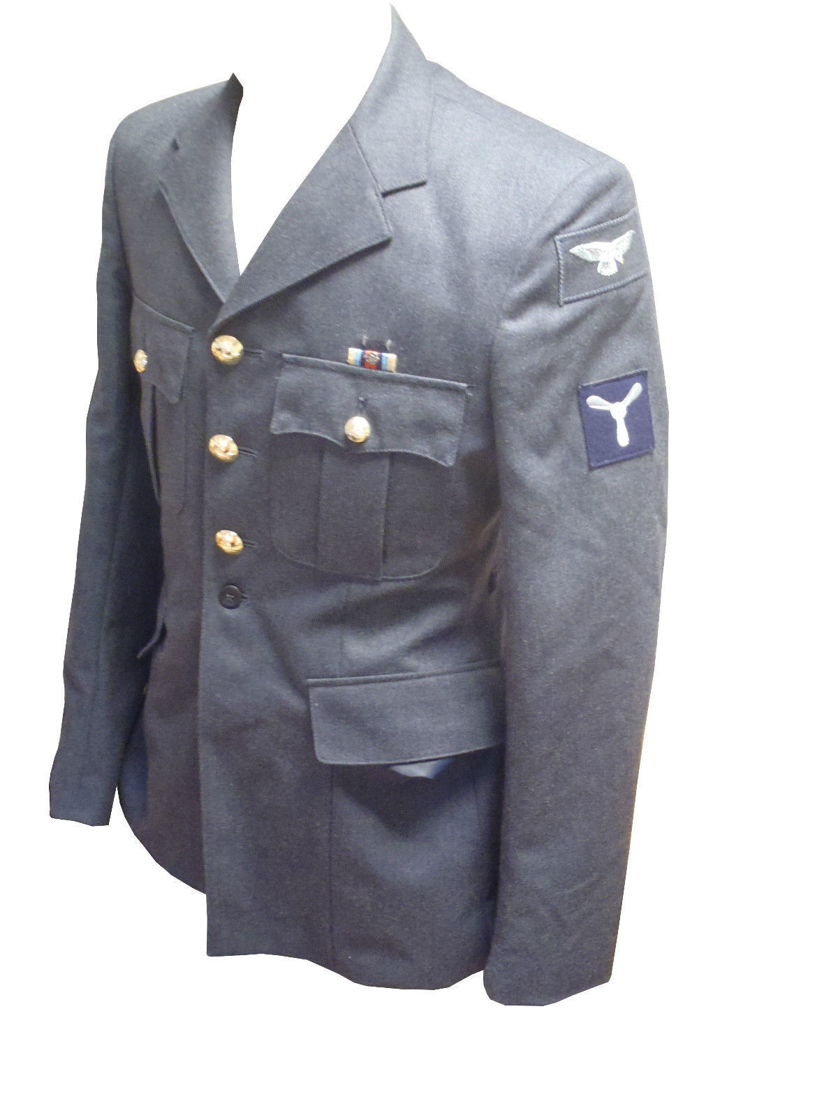 Lot 32 - 10x RAF TUNIC + 10x RAF TROUSERS - GRADE 1 USED - MIXED SIZES
