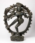 Shiva Nataraja Steinfigur, wohl um 1900 45 cm hoch Shiva Nataraja, Stone figure, probably around