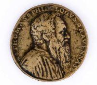 Tomaso Rangone (1493-1577) Italienische Medaille, wohl 16. Jh. Durchmesser: 3,9 cm Vorderseite: