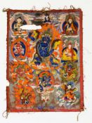 Thangka Tibet, wohl 20. Jh. 41 x 31 cm Thangka, Tibet, probably 20th c., 41 x 31 cm Thangka Tibet,