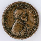 Camillo Agrippa Italienische Medaille von G.B. Bonini (aktiv 1557-1585), wohl um 1585 Durchmesser