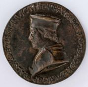 Federigo da Montefeltro Italienische Medaille von Savelli Sperandio (1425-1505), wohl Ende 15. Jh.
