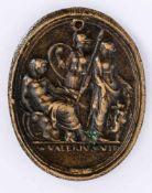 Herkules zwischen Minerva und Venus Italienische Plakette von Valerio Belli (1468-1546), wohl 16.