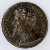 Valerio Belli ( 1468-1546) Italienische Medaille, wohl 16. Jh. Durchmesser: 4,8 cm Rückseite:
