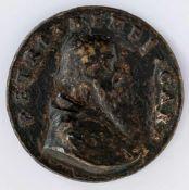 Kardinal Pietro Bembo (1470-1547) Italienische Medaille, wohl 16. Jh. Durchmesser 5,5 cm