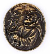 Hl. Franziskus Italienische Plakette, wohl 17. Jh. 6,2 x 5,5 cm Rückseite: Hl. Franziskus (?) vor