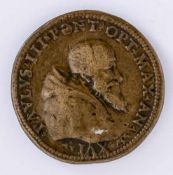 Paul III - Restaurierung von Tusculum Medaille, wohl 1548 Durchmesser: 3,5 cm Vorderseite: Büste