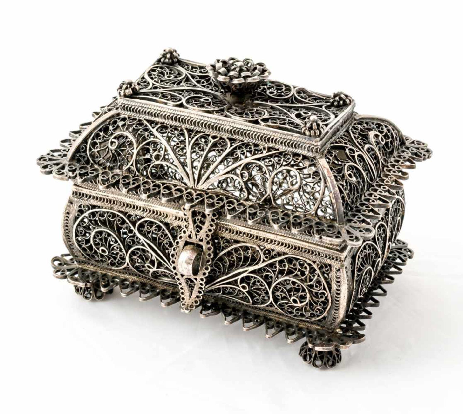 Filigrankästchen Russland, Silber (102g), Moskau 1843 Beschaumeister: wohl Andrej Kovalskij