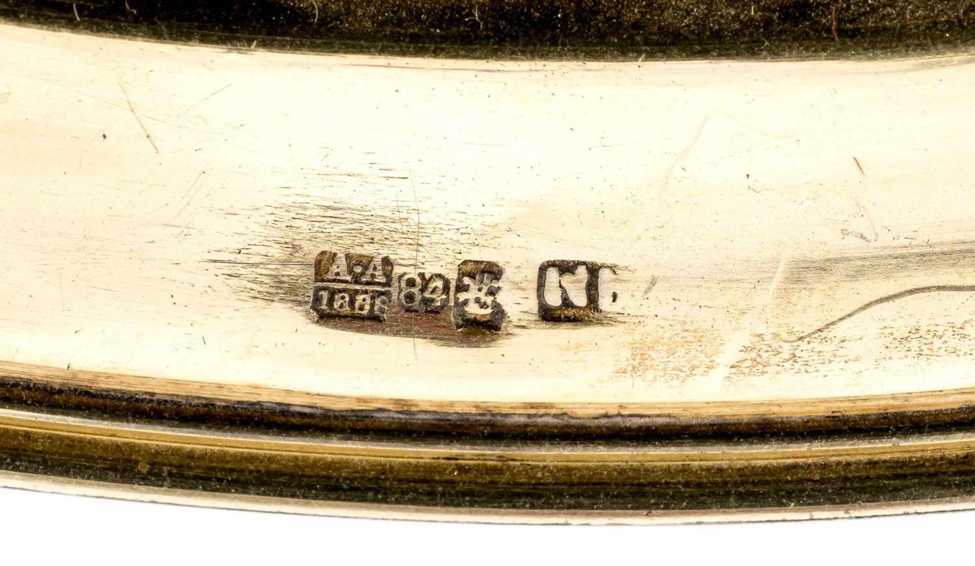 Präsentierteller Russland, Silber, teilvergoldet (359g), Moskau 1888 Beschaumeister Anatoly - Bild 2 aus 2