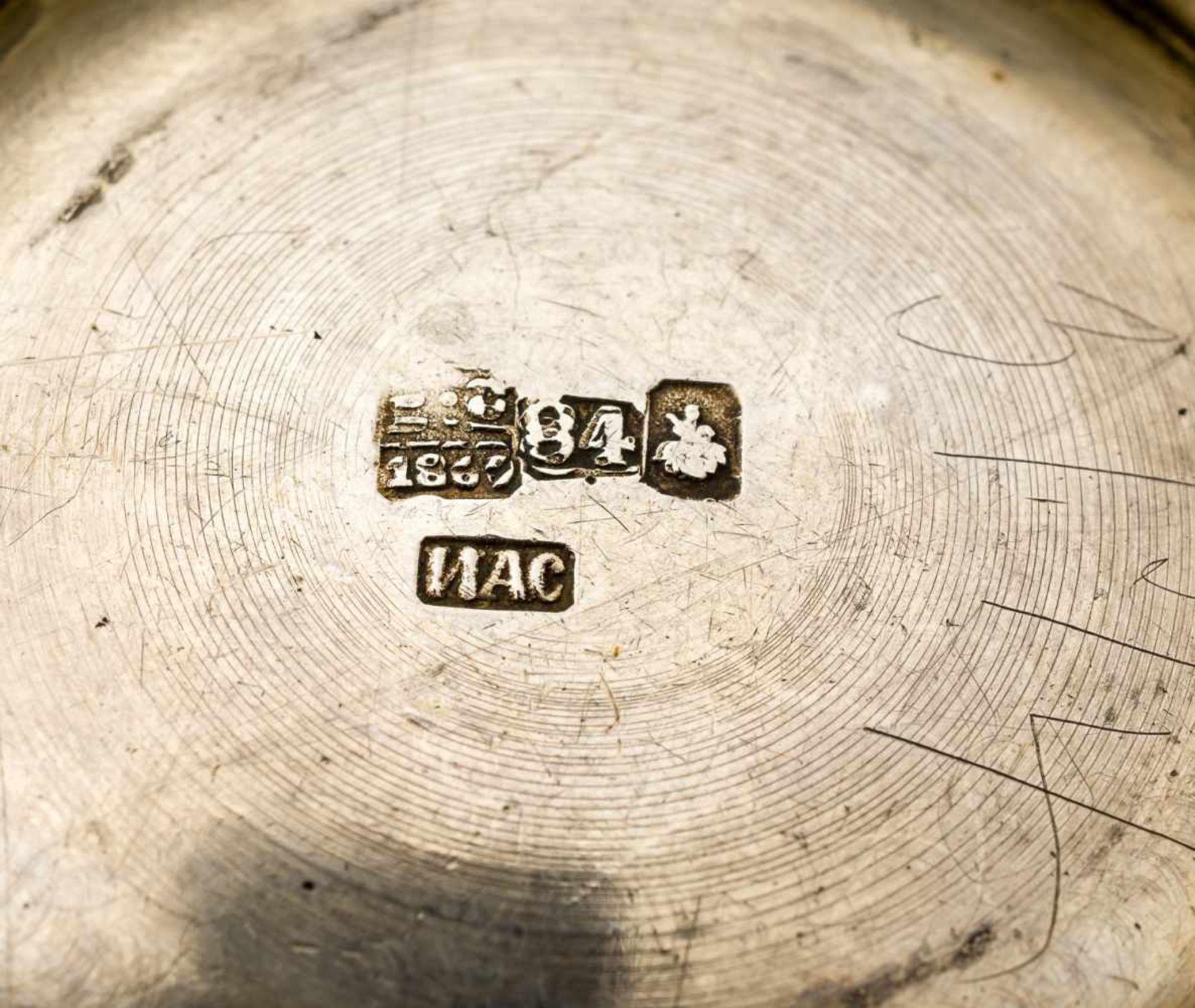 Kleine Zuckerdose Russland, Silber (134g), Moskau 1869 Beschaumeister: Viktor Savinkov Meister: Ivan - Bild 2 aus 2