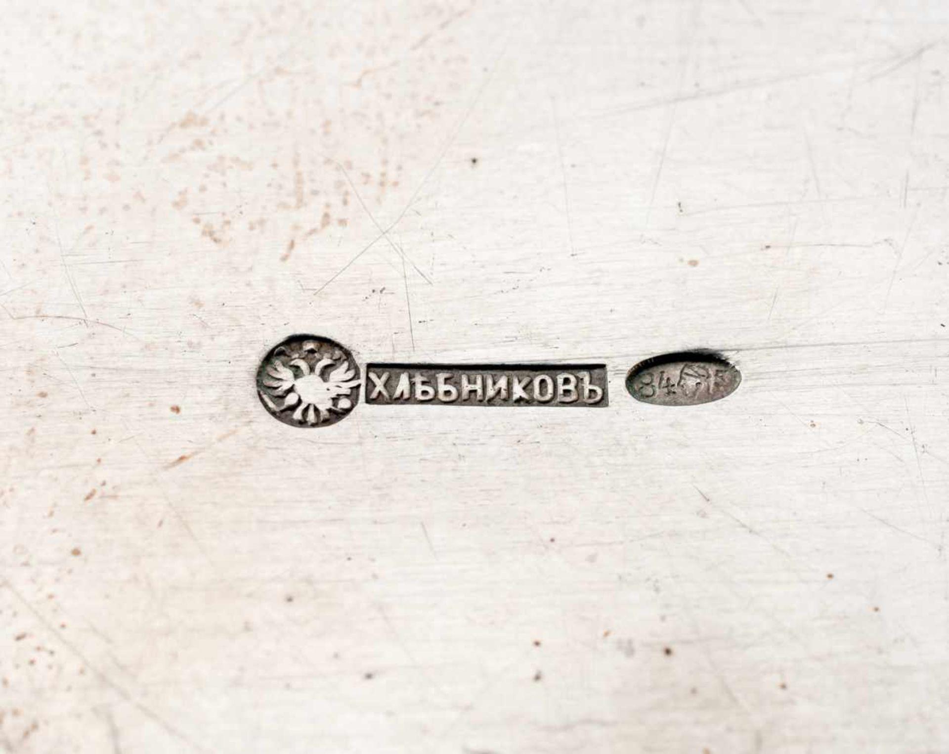 Henkelschale Russland, Silber (140g), Moskau 1904 Beschaumeister: I. Lebedkin Meister: Chlebnikov - Bild 2 aus 3