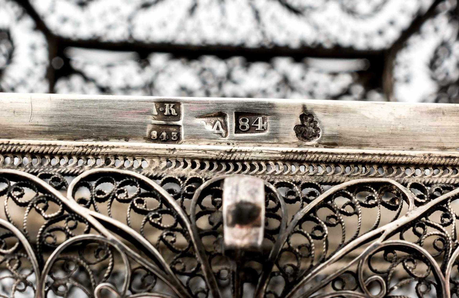 Filigrankästchen Russland, Silber (102g), Moskau 1843 Beschaumeister: wohl Andrej Kovalskij - Bild 2 aus 2