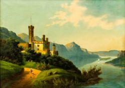 Schloss Stolzenfels Öl / Leinwand, unsigniert 47 x 65 cm, mit Rahmen 71 x 90 cm The castle
