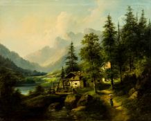 "Mühle bei Salzburg Öl / Leinwand, unten links signiert ""E.Boehm"", wohl Eduard Boehm (1830-1890) 55 x"