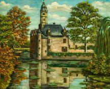 """Wasserschloss Öl / Leinwand, rechts unten signiert """"FRS.Wouters"""" 48 x 57,5 cm, mit Rahmen 57,5 x"""