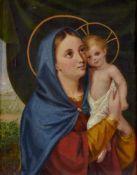 "Madonna Öl / Leinwand, signiert ""G. Pock"", wohl Giovanni Antonio Pock (1780-1842) 32,5 x 25,5 cm,"