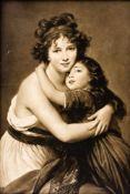 Selbstbildnis mit Tochter Lithographie (?) nach dem Gemälde von Elisabeth Louise Vigée Le Brun 55