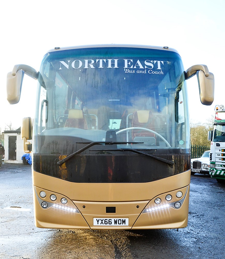 Lot 1 - Volvo Plaxton Panther 53 seat luxury coach Registration Number: YX66 WOM Date of Registration: 12/