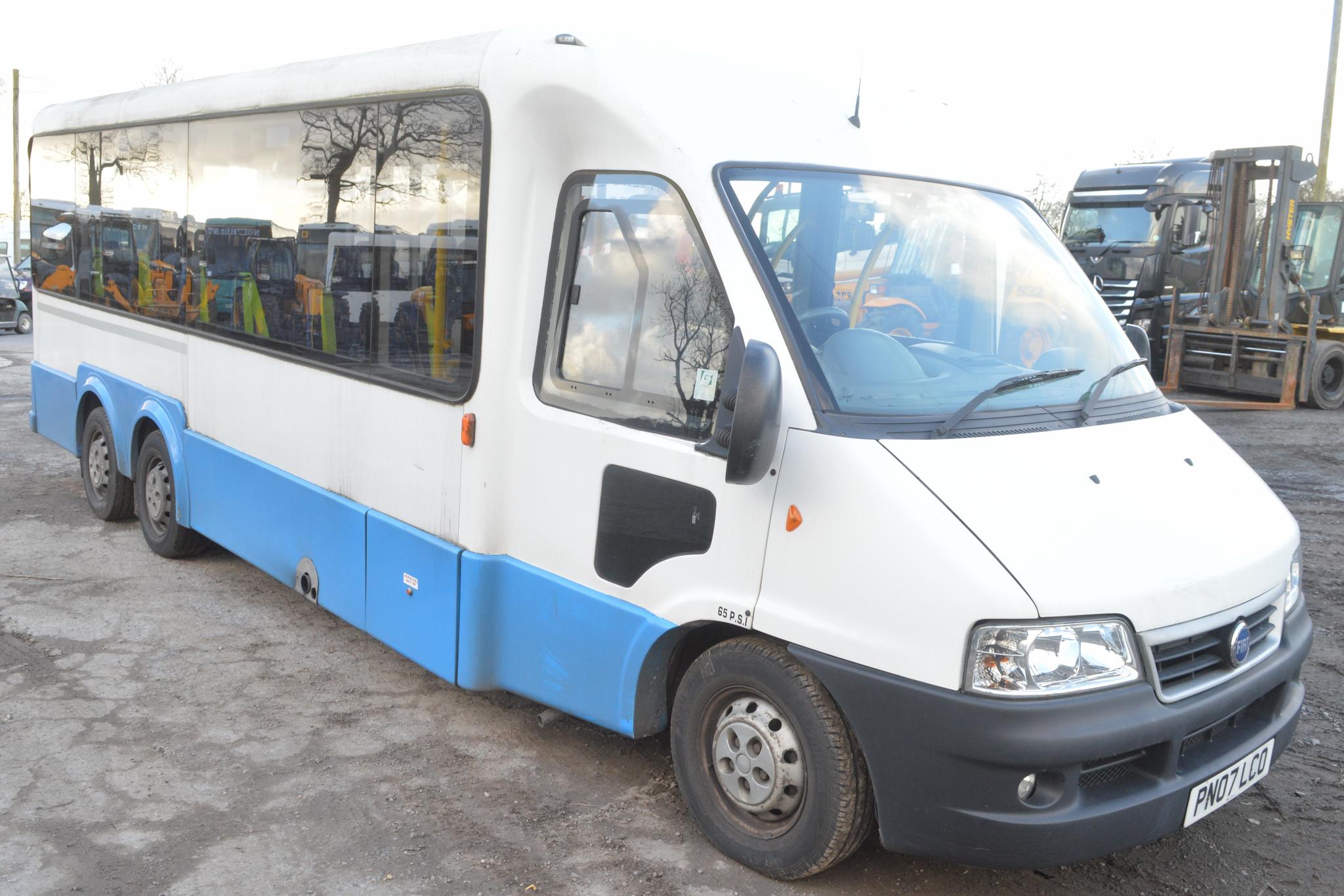 Lot 57 - Fiat Ducato 14 seat minibus Registration Number: PN07 LCO Date of Registration: 01/07 MOT: Expired