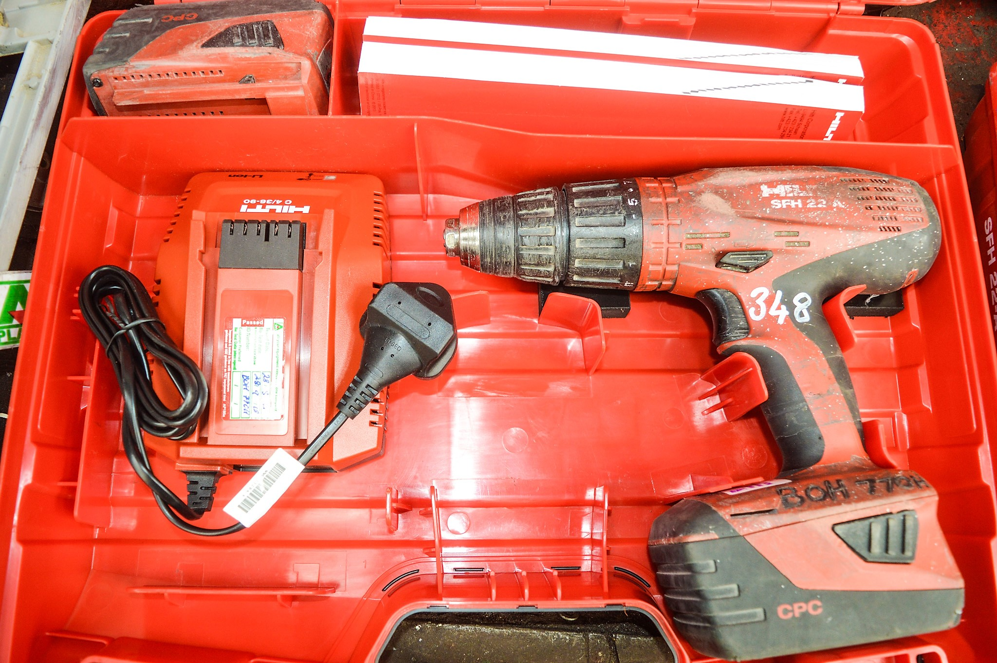 hilti sfh22 a 22v cordless power drill c w charger 2. Black Bedroom Furniture Sets. Home Design Ideas